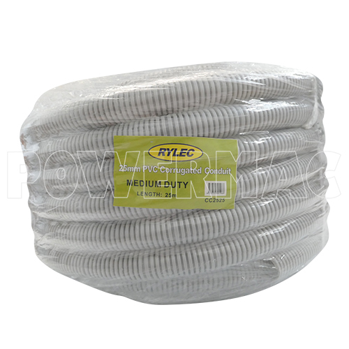 CORRUGATED CONDUIT 25MM X 25M GREY